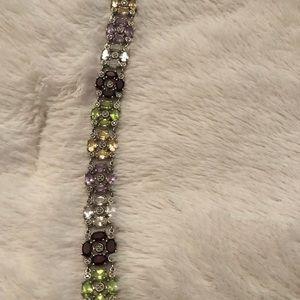 Jewelry - Sterling silver multi gemstone flower bracelet